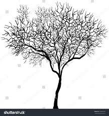 halloween background white dead tree black on white background stock vector 326897900