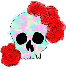 skull with flowers design julie erin designs