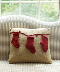 oh cute knit a pillow with stockings for christmas free
