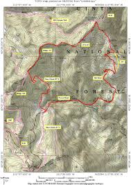 Utah Topo Maps by Middle Ridge 157 Mill Canyon Springs Loop