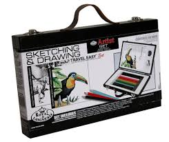 royal and langnickel travel easy sketching and drawing set amazon