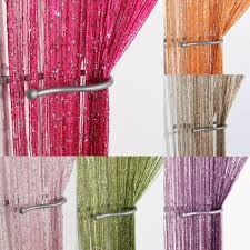 Sparkle Window Curtains by Glitter String Curtain Panels Fly Screen U0026 Room Divider Voile
