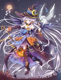 vocaloid halloween monster party night happy halloween anime art witch witch costume