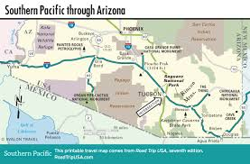 California Arizona Map by Crossing Arizona On The Southern Pacific Route Road Trip Usa