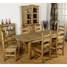 Pine Dining Chair Seconique Corona Extending Dining Table U0026 6 Pine Dining Chairs