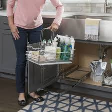 kitchen sink cabinet caddy the sink cleaning supply caddy pullout with handle