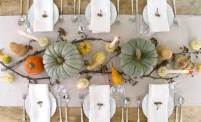 dining table via forest design simple thanksgiving table