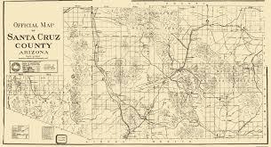 Arizona Map by Old County Map Santa Cruz Arizona 1910
