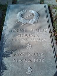 quotes in spanish for headstone john philip sousa u0027s birthplace and gravesite the dc bike blogger