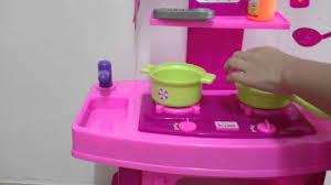 Plastic Toy Kitchen Set Dora Kitchen Set Youtube