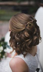 bridal hairstyle ideas hochzeitsfrisuren kurze haare halboffen und lockig frisuren