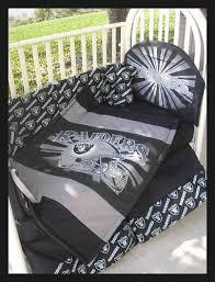 Dodger Crib Bedding by New Baby Crib Bedding Set Made W Oakland Raiders Fabric Seth