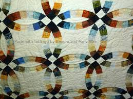 Wedding Ring Quilt by Double Wedding Ring 12 Inch