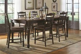 Counter Height Dining Room Furniture by Mulligan 5 Piece Counter Height Dining Table Set In Latte Espresso