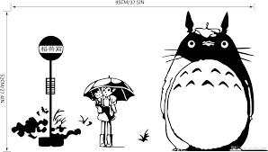 Remove Wall Stickers Diy Wall Sticker Japanese My Neighbor Totoro Movie Movie Cartoon