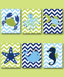 Fish Nursery Decor Fish Crab Baby Boy Nursery Nursery Wall Baby Nursery