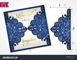 Card For Wedding Invites Die Cut Wedding Invitation Card Template Stock Vector 322934885