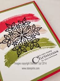 stampintx christmas card ideas using work of art set