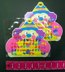 plastic earrings kids plastic jewelry colorful comedy clown earrings