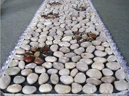 pavimentazione in ghiaia ciottolo levigato piastrelle mesh pavimentazione di ghiaia lavata