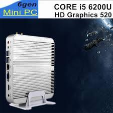 pc bureau i5 mini pc 6gen intel i5 6200u sans ventilateur de bureau 4 k