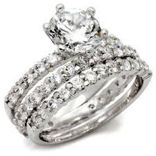 three ring wedding set alaina s imitation three ring wedding set