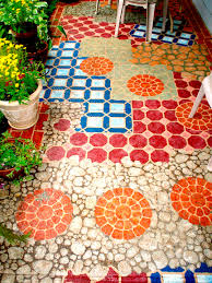Painting Patio Pavers by 14 Amazing Painted Floors Concrete Patios Concrete And Patios