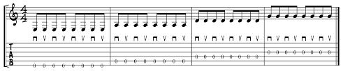 Picking Sheet Alternate Picking Total Guitar And Bass