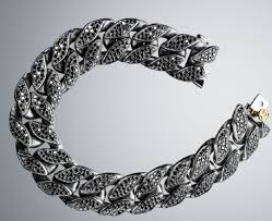 chain diamond bracelet images David yurman wide black diamond curb chain bracelet love this jpg