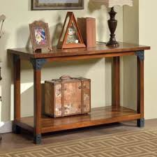 oak sofa tables rustic oak and slate tile sofa table free shipping today