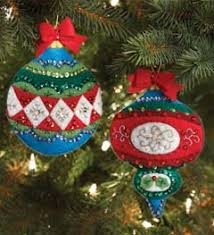 bucilla seasonal felt ornament kits gift card holders