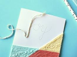 diy yarn embellished cards how to make a stitched card