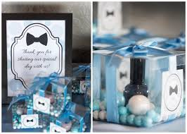nail baby shower favors real bowties blue polka dots inspired baby shower