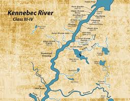 world river map image 2 kennebec river map whitewater is king in the kennebec valley