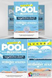 pool party flyer template free download photoshop vector stock