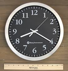 silent wall clocks bjerg instruments modern 12 stainless silent wall clock with non