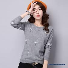 cheap fashion sweater neck slim pull blouson