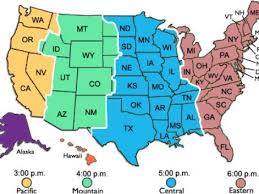 map of usa time zones map usa time zones major tourist attractions maps