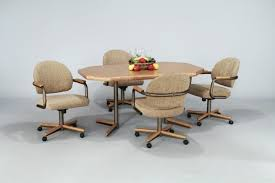 Kitchen Chairs With Rollers by Kitchen Table With Rolling Chairs Pictures Kitchen Astounding