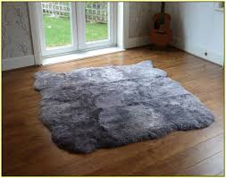 Imitation Sheepskin Rugs Grey Sheepskin Rug Home Design Ideas