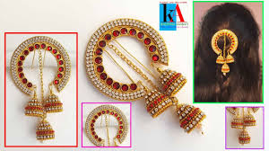 how to make 5 minutes hair accessories jewellery model no