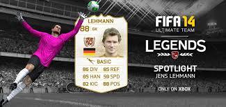 fut 14 legends spotlight jens lehmann xbox only fifa 18