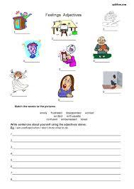 Identifying Adverbs And Adjectives Worksheets Feelings Adjectives Worksheet Esl Efl Flashcards Pinterest