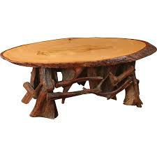 Dining Room Tables Made In Usa Oval Coffee Table With Driftwood Base 10200 0202ct Rustic Living