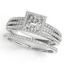 princess cut wedding set princess cut wedding set diamond halo engagement ring and wedding