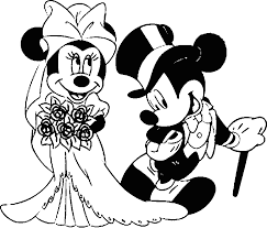 mickey minnie mouse coloring pages wedding coloring pages