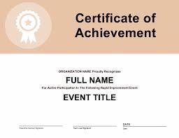 Participation Certificate Templates Free Download Improvement Event Participation Certificate Goleansixsigma Com