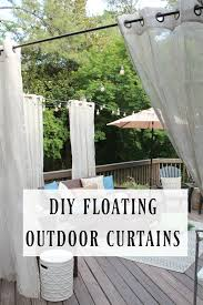 diy floating outdoor curtains outdoor curtains tutorials and walls