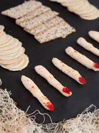 halloween party food spooky goat cheese fingers hgtv