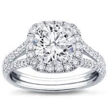 halo engagement rings split shank halo setting for cushion cut r2988